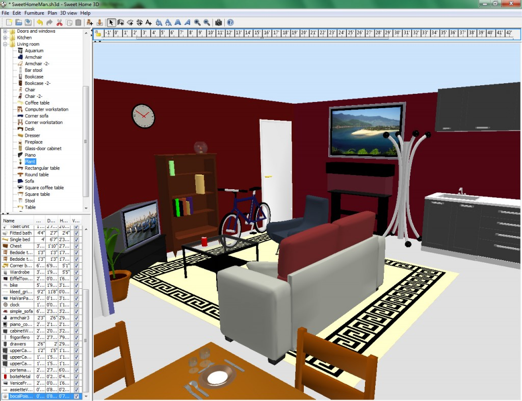 Sweet home 3d 3d design free