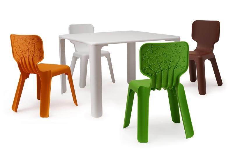 Комплект столове и маса – интересно и цветно решение за детския кът