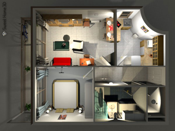 Безплатен софтуер за интериорен дизайн – Sweet Home 3D