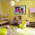 Свеж интериор в жълто за детска стая