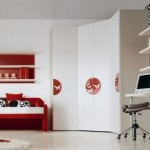 Детскки интериорен дизайн в червено
