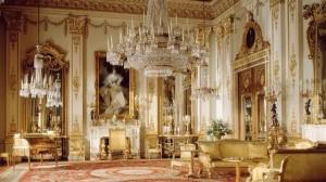 Интериорът на Бъкингамския дворец в Лондон