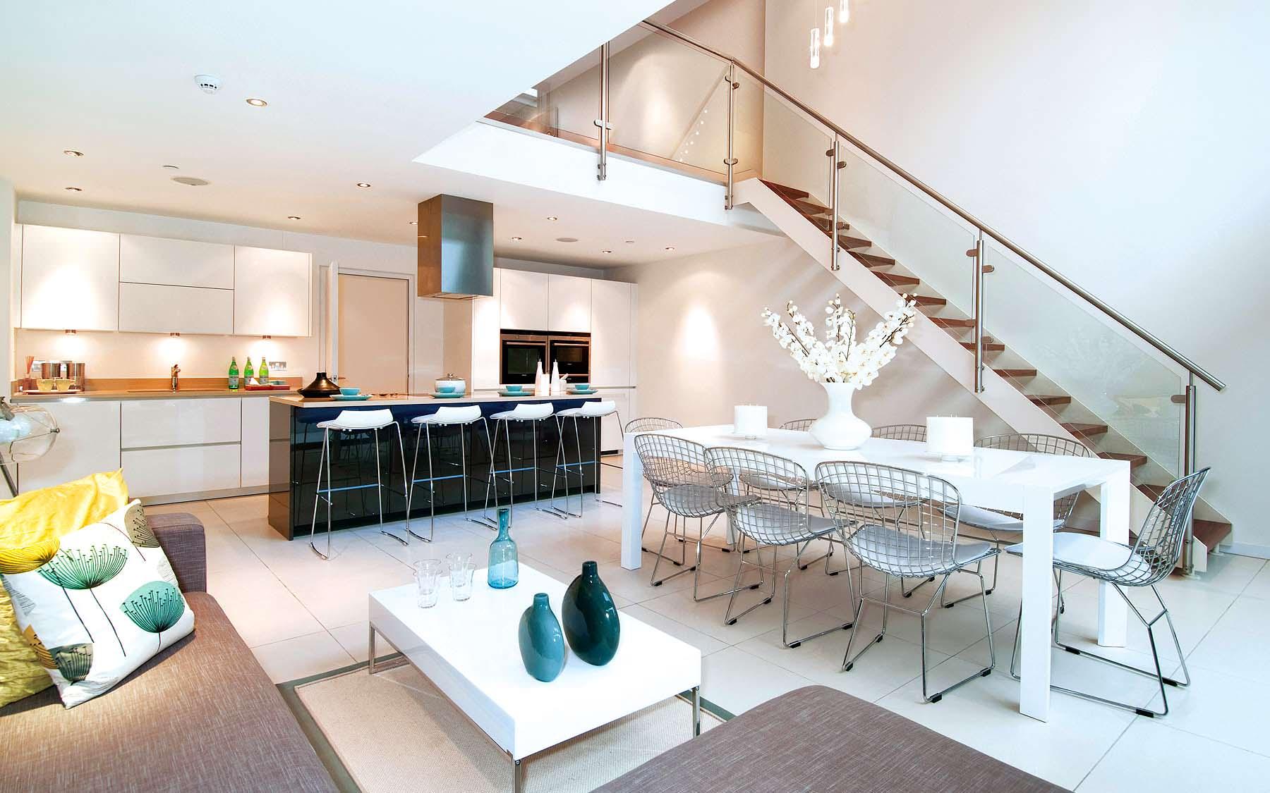 Интериор за малко жилище: комбиниране на кухня и всекидевна