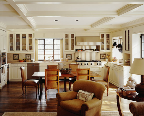 combined kitchen and living room интериор за малък апартамент 18584