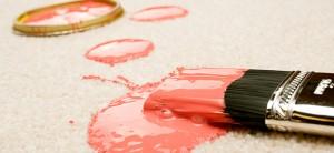 Почистване на блажна боя от килим