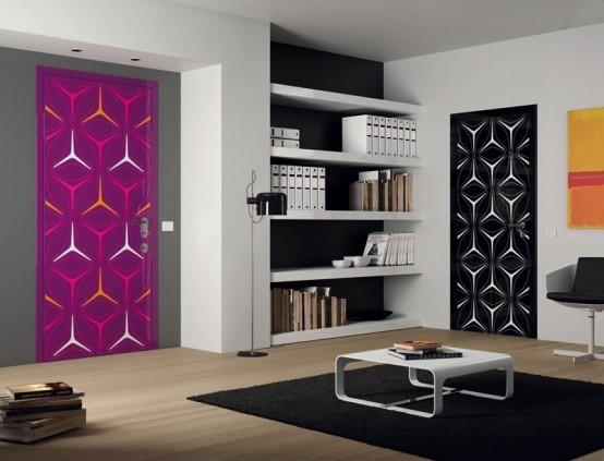 Модерни интериорни врати в ярки цветове