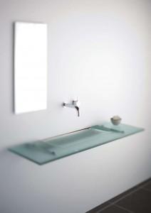 Супер тънка стъклена мивка за баня