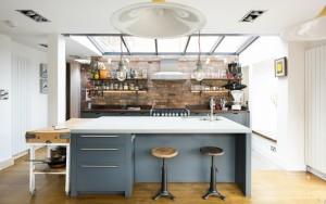 Кухня с индустриален интериор