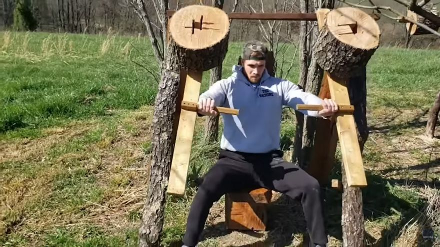 Направи-си-сам градински фитнес от дърво